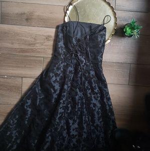 Vintage Leaf formal corset back dress maxi bodice